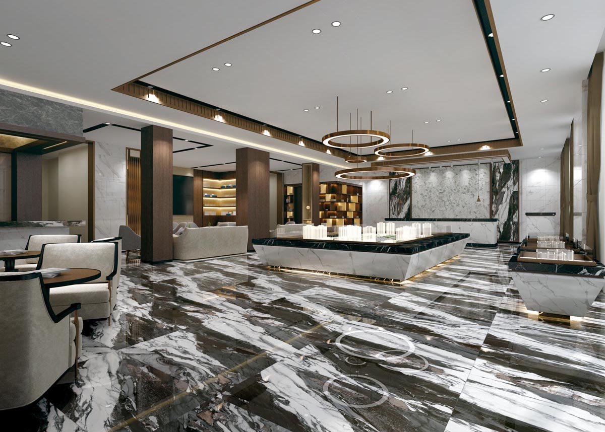 Marbles oriental black — room